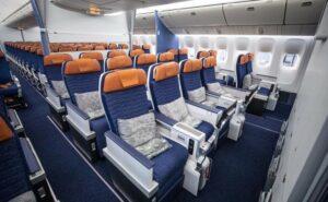 Comfort class on the Aeroflot Boeing 777