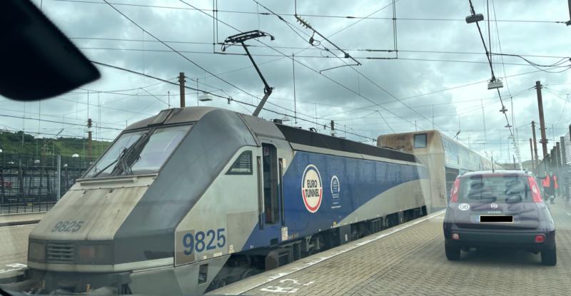 Eurotunnel auto-train up close