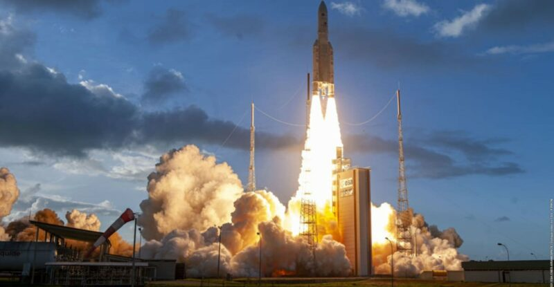 Ariane 5 rocket that lifted off from the Guiana Space Center in Kourou, French Guiana