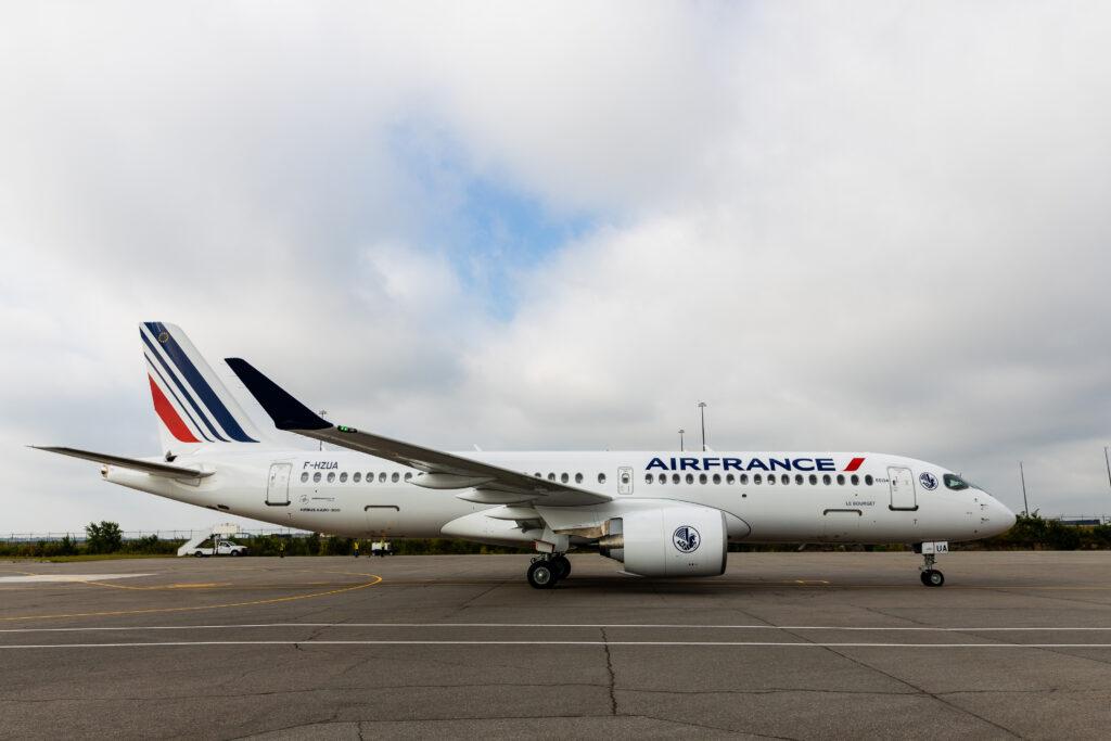 Air France A22-300 on the tarmac.