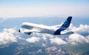 Airbus A220-300 in flight