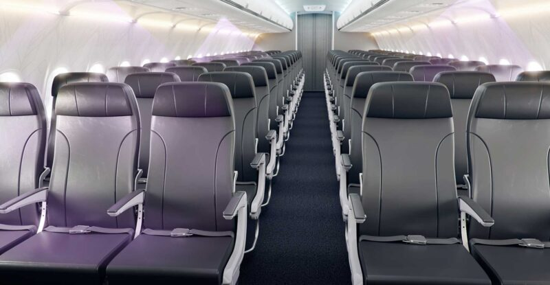 Collins Aerospace's Lilac-UV cabin sanitizing system, with violet germicidal light sanitizing aircraft seats from the PSU