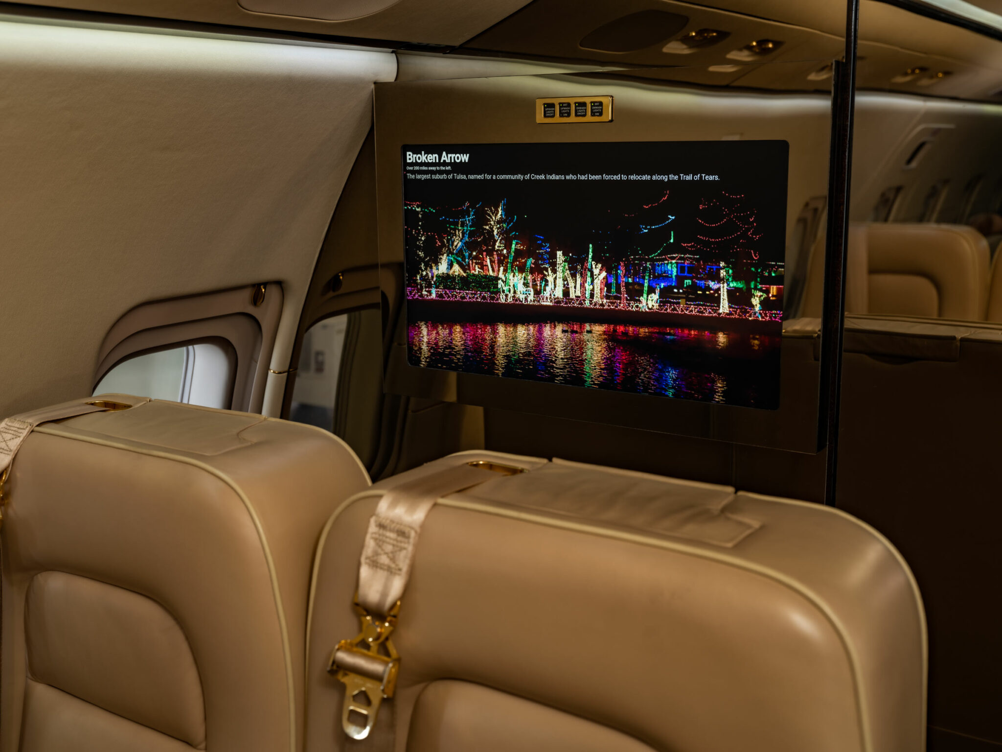 Goji Geotainment system from Gotham Studios on a Bombardier Challenger 850
