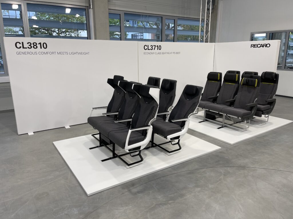 Multiple CL3810 seat triples at the Recaro factory.