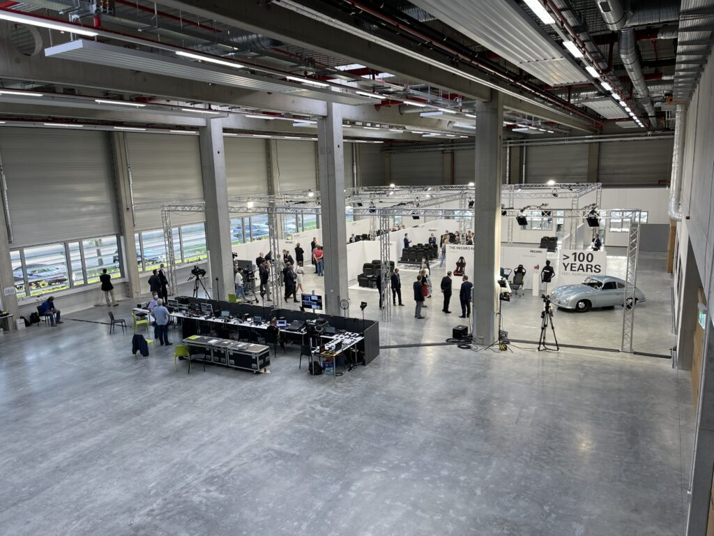 Recaro's customer service area, with lots of space