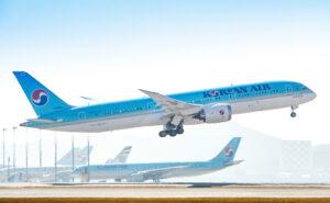 Korean Air Boeing 787-9 taking off.