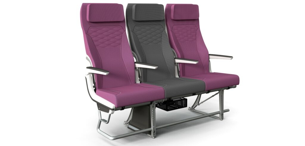 Rendering of Qatar Airways' implementation of the CL3810 with the airline's signature maroon and grey