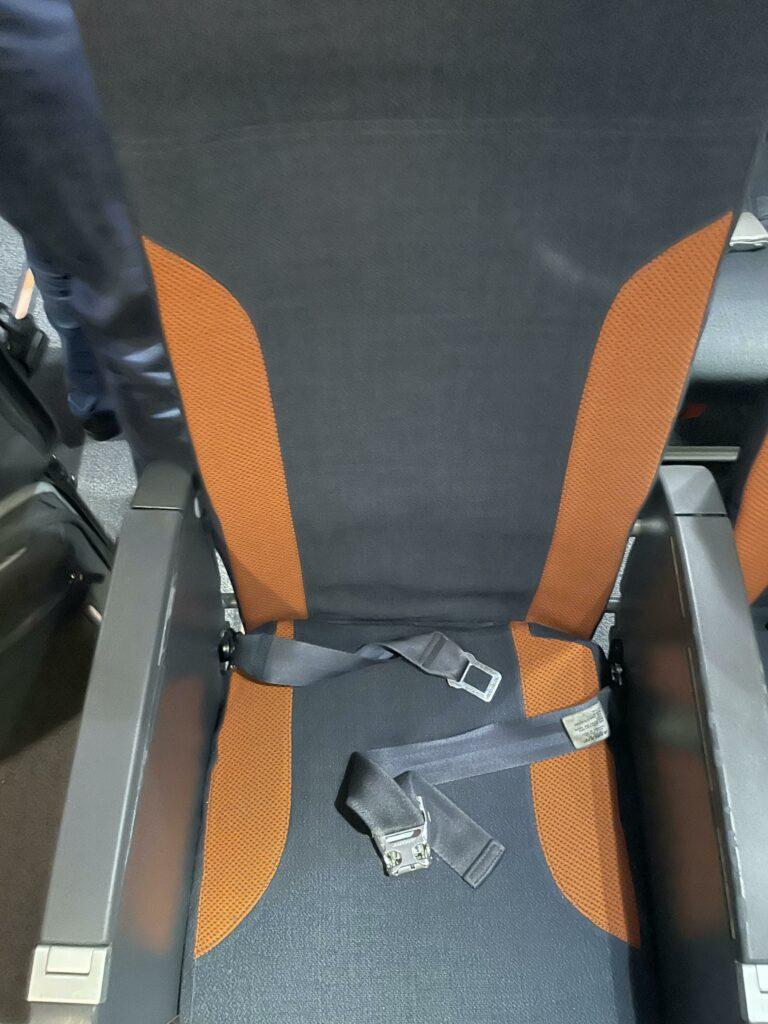easyJet aircraft Recaro slimline seat.