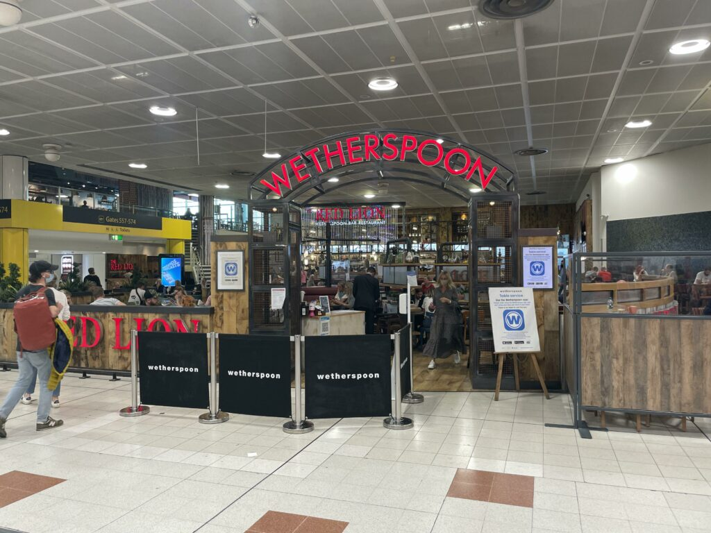 Wetherspoon's pub at London Gatwick Airport