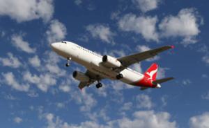 QantasLink aircraft taking off.