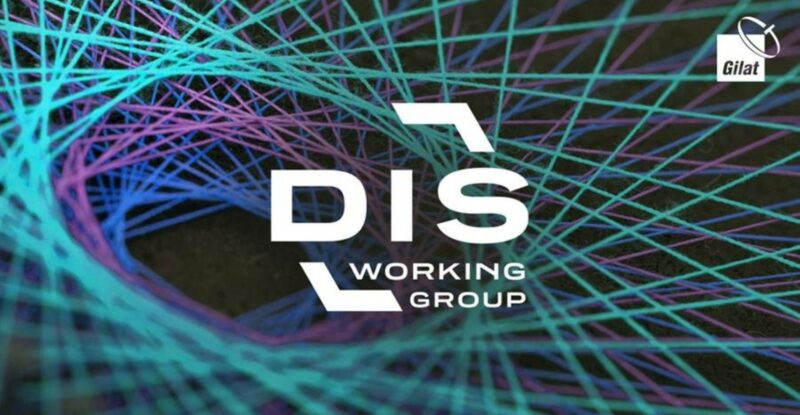 """Matrix of green, blue and purple lines with the letters """"D-I-S"""" centred in the front."""