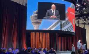 FAA Administrator Steve Dickson at the NBAA Business Aviation Convention & Exhibition in Las Vegas.