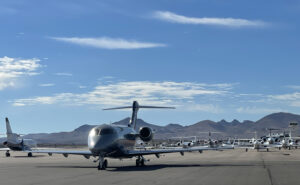 A variety of private jets at Henderson Executive Airport