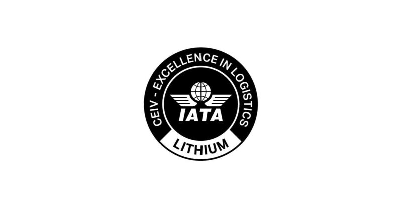 IATA Crest for CEIV Lithium battery on a white background