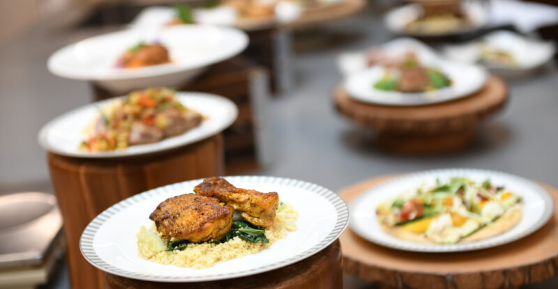 An assortment of meals on display from SIA and the Golden Spa partnership