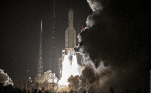 Ariane 5 launcher at launch.