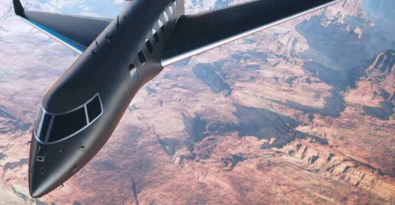 Viasat Select aircraft flying over terrain.