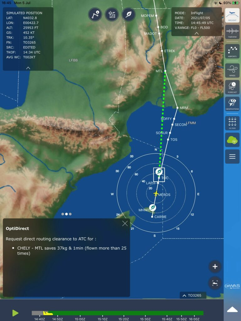 EWAS pilot screenshot show map and location points.