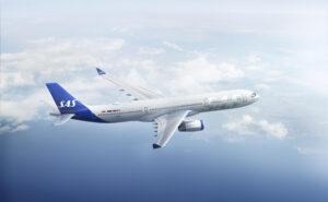 Scandinavian Airlines (SAS) in flight
